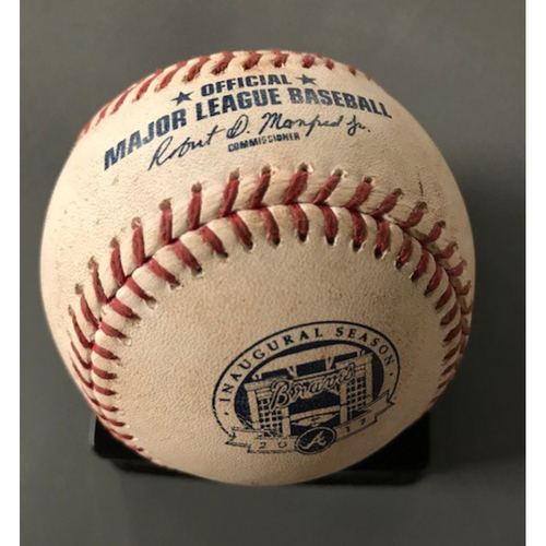 Nori Aoki Game-Used Hit Double Baseball - July 5, 2017