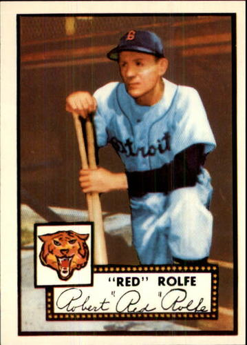 Photo of 1983 Topps 1952 Reprint #296 Red Rolfe MG
