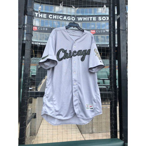 Photo of Adam Engel Game-Used 2018 Memorial Day Jersey - Size 46