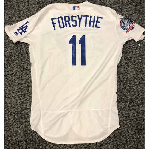 Photo of LA Dodgers Foundation Auction: Logan Forsythe 2018 Game-Used Autographed LA Dodger Jersey