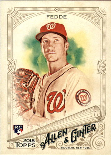Photo of 2018 Topps Allen and Ginter #323 Erick Fedde SP RC