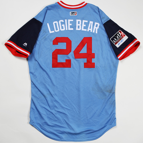 "Photo of Logan ""Logie Bear"" Forsythe Minnesota Twins Game-Used Jersey 2018 Players' Weekend Jersey"