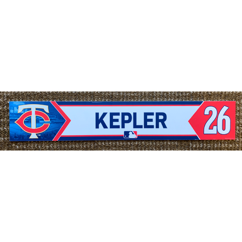 Photo of 2018 Game-Used Max Kepler Minnesota Twins Lockertag