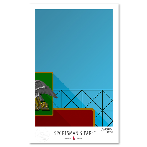 Photo of Sportsman's Park - Collector's Edition Minimalist Art Print by S. Preston #119/350  - St. Louis Cardinals