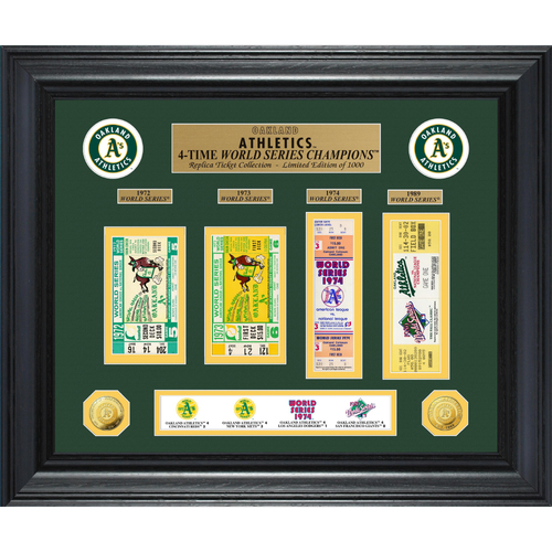 Photo of Oakland Athletics World Series Deluxe Gold Coin & Ticket Collection