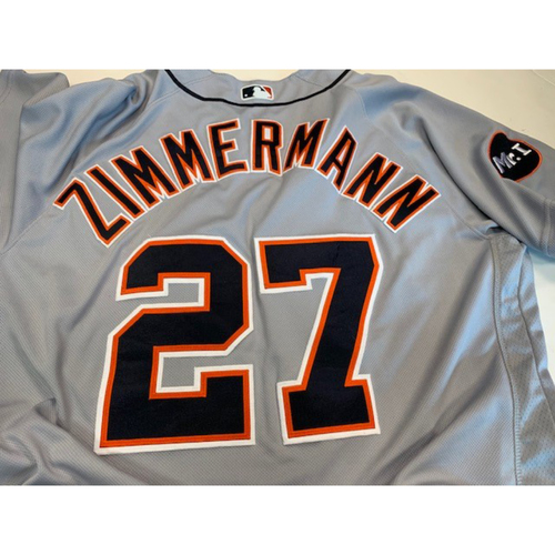 Game-Used Road Jersey: Jordan Zimmermann