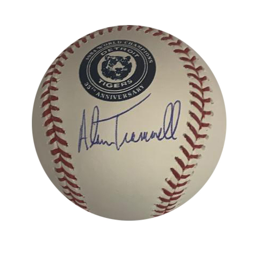 Photo of Alan Trammell Autographed 35th Anniversary Logo Baseball