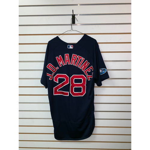 Photo of JD Martinez Game Used September 21, 2018 Road Alternate Jersey