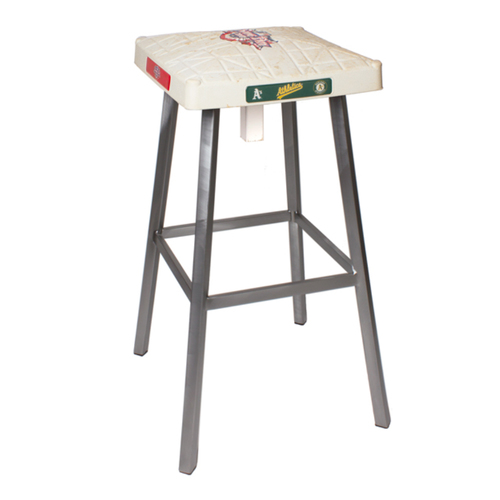 Photo of Tokens & Icons Oakland Athletics Game Used Base Stool