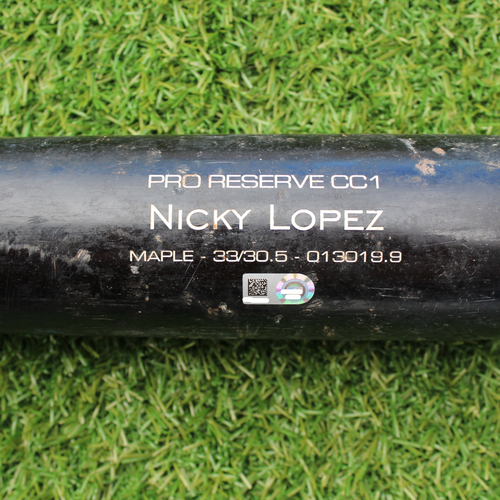Game-Used Broken Bat: Nicky Lopez 65th Career Hit (8/13/19 - STL @ KC)