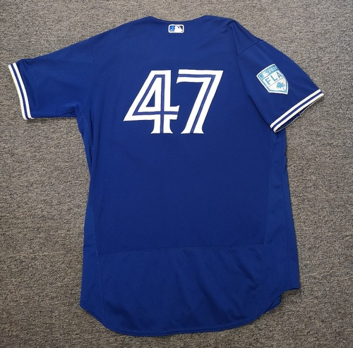 Photo of Authenticated Game Used 2019 Spring Training Jersey - #47 Shelley Duncan (Mar 18. Mar 26). Size 48
