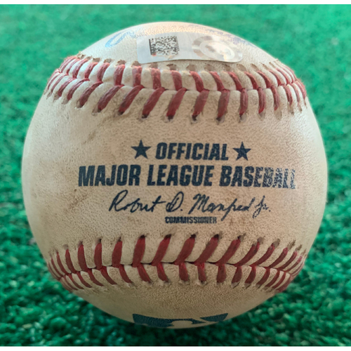 Photo of 2019 Game-Used Baseball 9/12/19 Astros vs. A's: Homer Bailey to Jose Altuve - Bottom 1st (Single to LF)