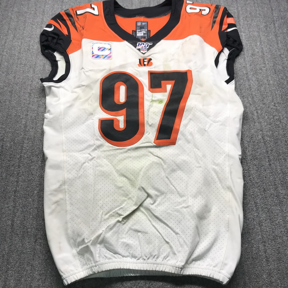 NFL Auction | Crucial Catch - Bengals Geno Atkins Game Used Jersey ...