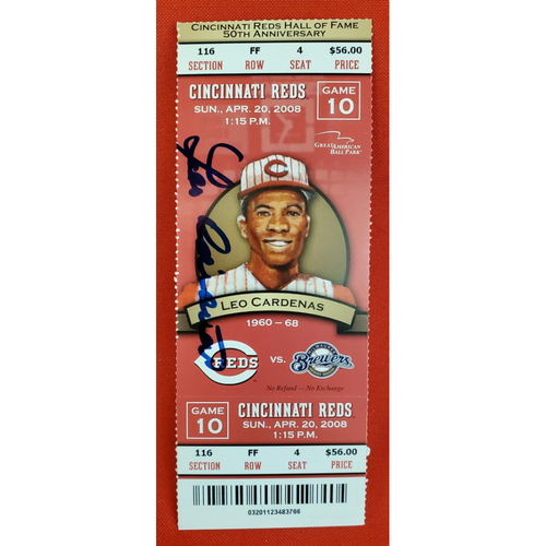 Photo of Leo Cardenas Signed Ticket