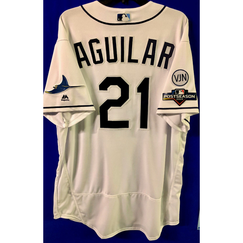 Photo of Team Issued 2019 Postseason Jersey: Jesus Aguilar