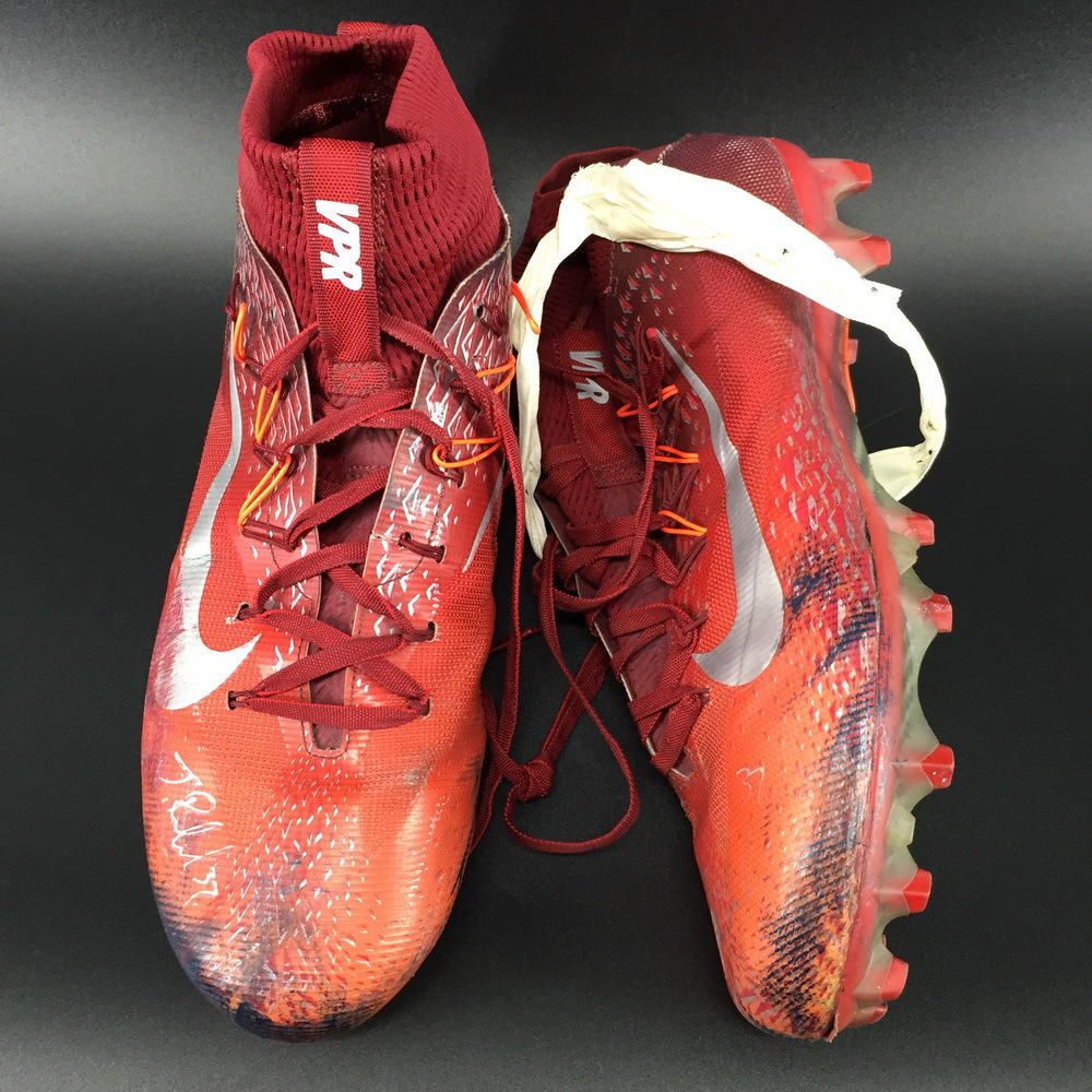 Patriots - Jordan Richards Signed Game Used Cleats