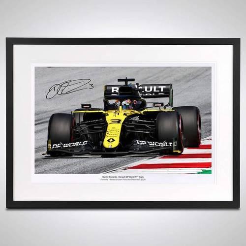 Photo of Daniel Ricciardo 2020 Framed Signed Photo - Austrian GP