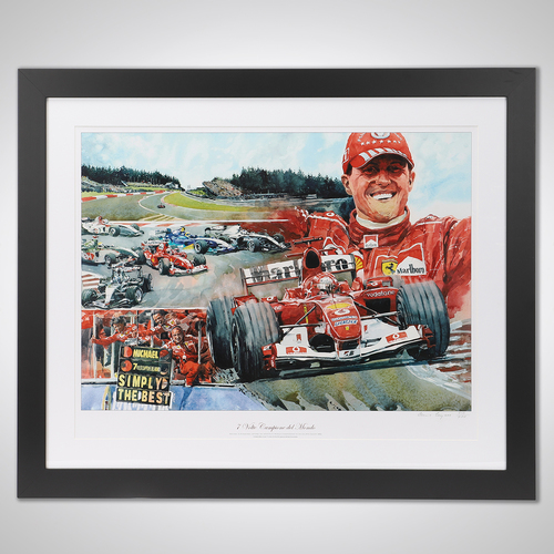 Photo of Michael Schumacher Limited Edition Framed Print - Signed by the Artist