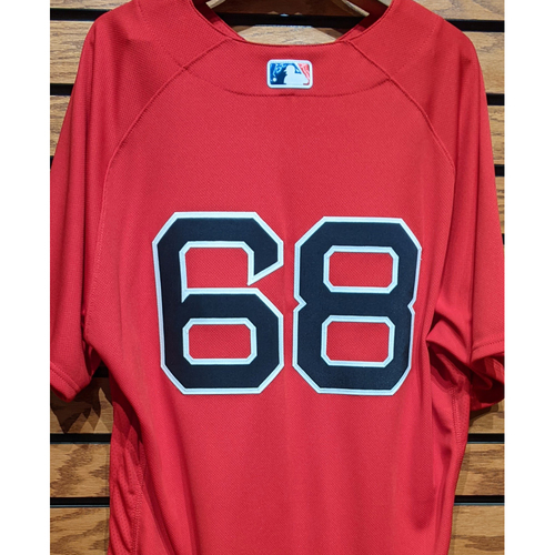 Photo of Dan Butler #68 Team Issued Red Home Alternate Jersey