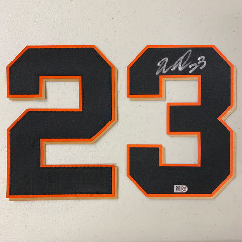 Photo of #23 Nori Aoki Autographed Jersey Number (*No Jersey Included* JERSEY NUMBERS ONLY)