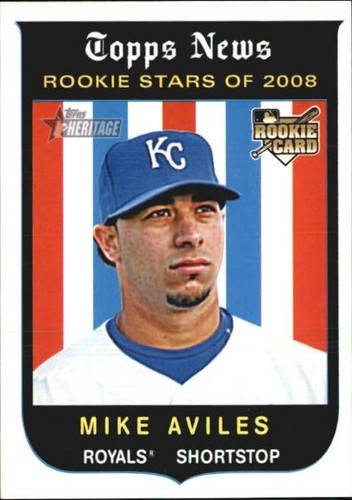 Photo of 2008 Topps Heritage #561 Mike Aviles RC