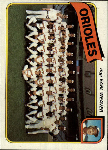 Photo of 1980 Topps #404 Baltimore Orioles CL/Earl Weaver MG