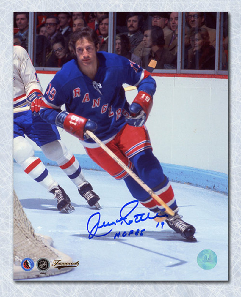 Jean Ratelle New York Rangers Autographed Game Action 8x10 Photo