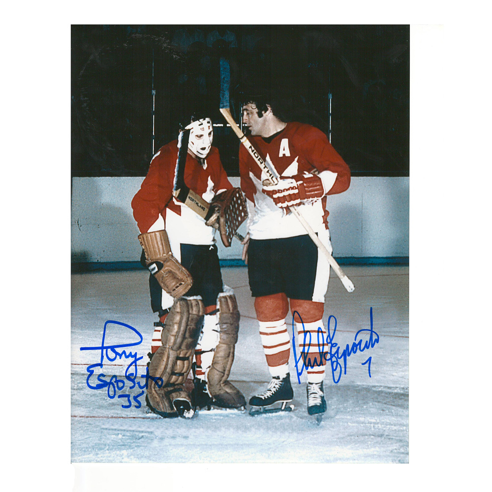 PHIL & TONY ESPOSITO Signed Team Canada 8 X 10 Photo - 70134