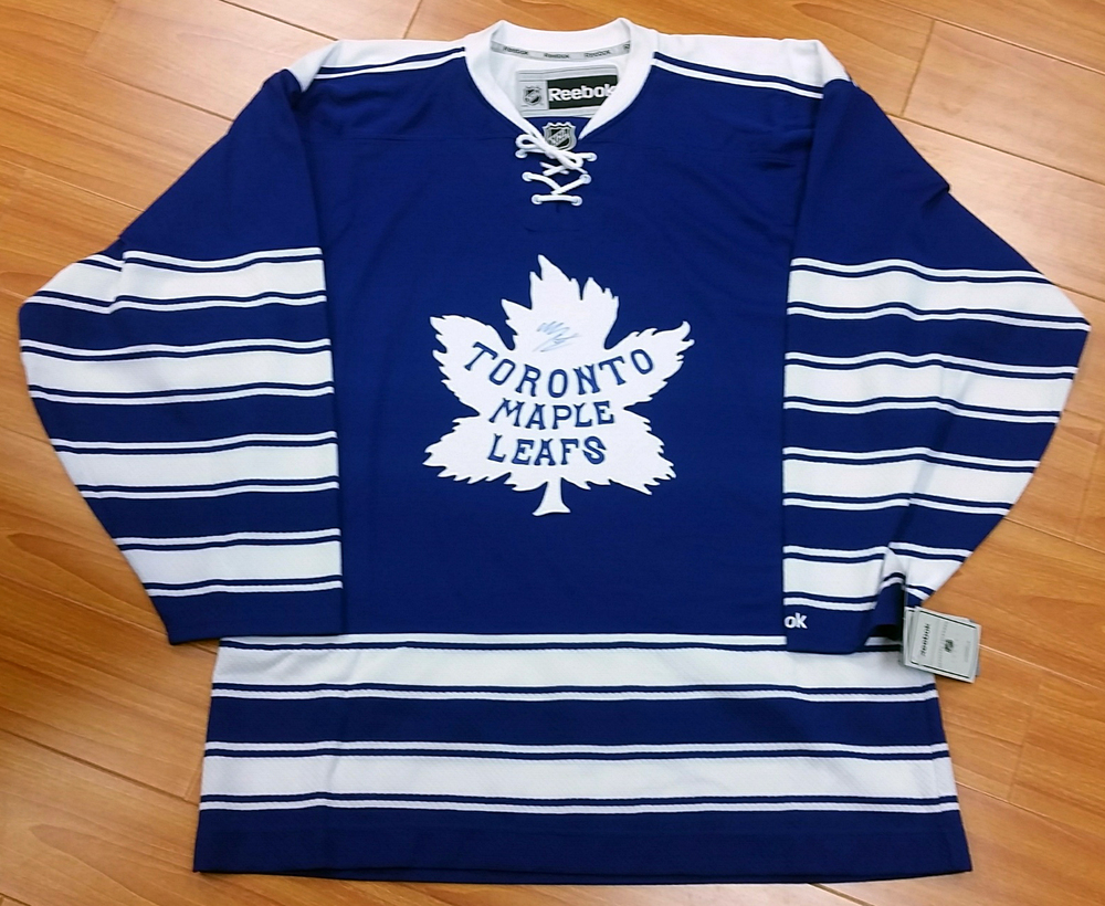 ac5f1501 Mitch Marner Toronto Maple Leafs Winter Classic Retro Jersey - Signed On  Front