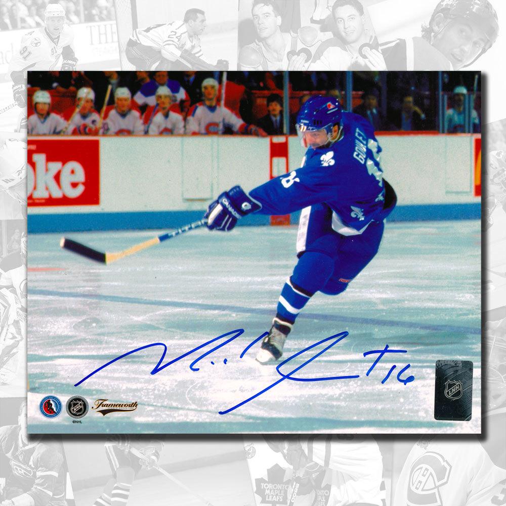 Michel Goulet Quebec Nordiques Slapshot Autographed 8x10
