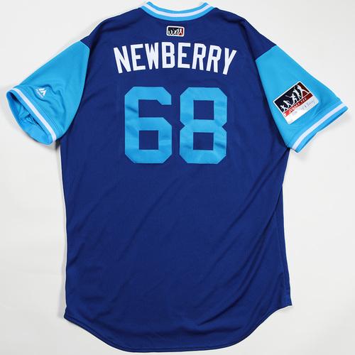 "Photo of Jake ""Newberry"" Newberry Kansas City Royals Game-Used Jersey 2018 Players' Weekend Jersey"