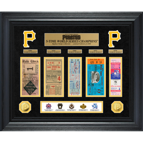 Photo of Pittsburgh Pirates World Series Deluxe Gold Coin & Ticket Collection