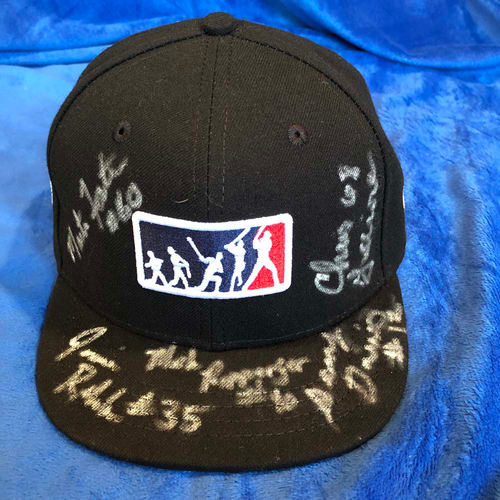 Photo of UMPS CARE AUCTION: 2018 MLB Little League Classic Crew Signed Umpire Plate Cap, Size 7 1/4