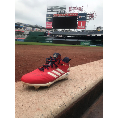 Photo of Autographed Trea Turner Left Cleat - Pair 1