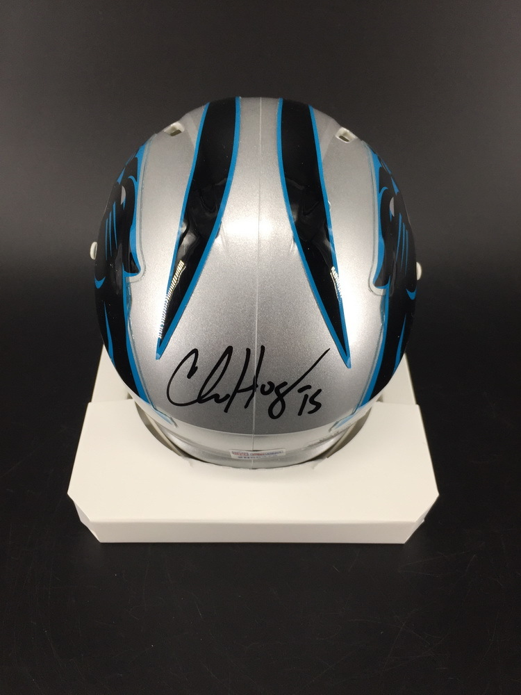 Panthers - Chris Hogan Signed Mini Helmet