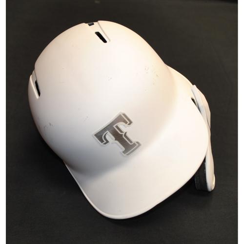 "Photo of Hunter ""¯\_(?)_/¯"" Pence Texas Rangers Team-Issued 2019 Players' Weekend Helmet"