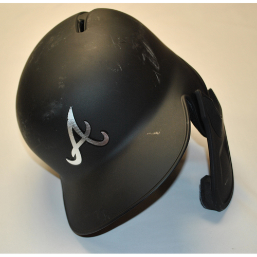"Photo of Tyler ""MMBB"" Flowers Atlanta Braves 2019 Game-Used 2019 Players' Weekend Helmet"