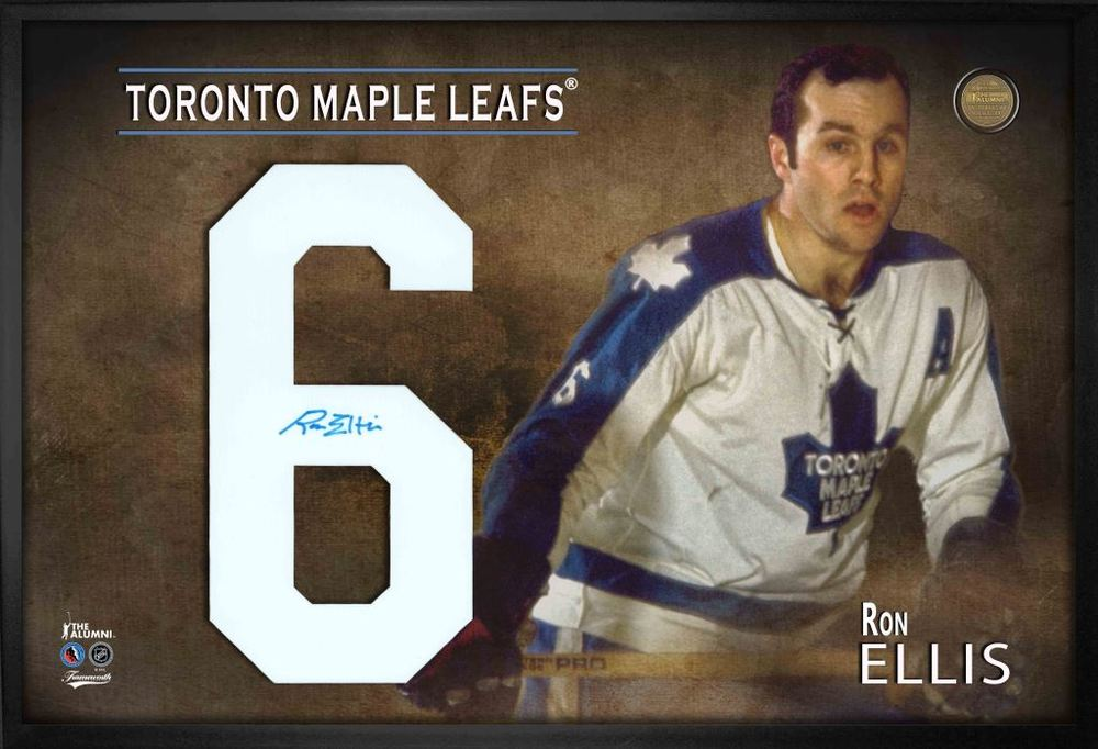 Ron Ellis, Signed Jersey Number Framed Print Maple Leafs