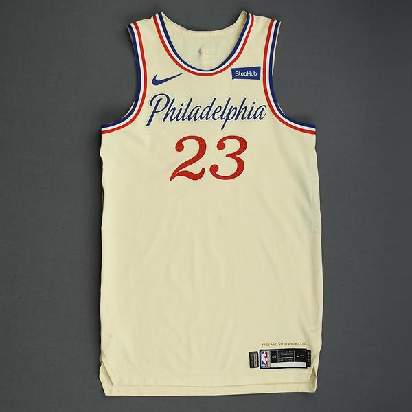 Image of Trey Burke - Philadelphia 76ers - Christmas Day' 19 - Game-Worn City Edition Jersey