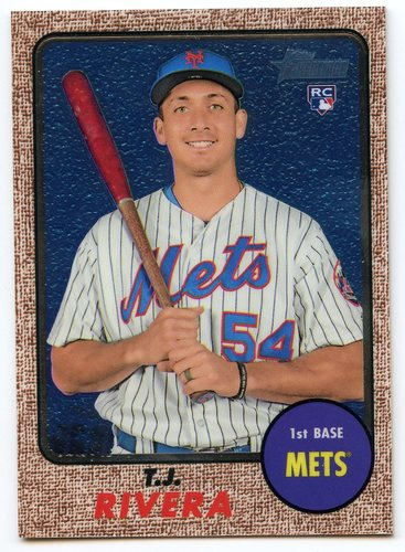 Photo of 2017 Topps Heritage Chrome #THC697 T.J. Rivera