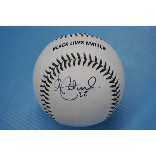Photo of 2020 MLB Black Lives Matter Commemorative Ball - Autographed by Andrew McCutchen
