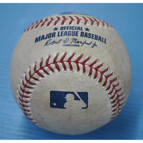 Photo of Game-Used Baseball - MIL at PIT - 8/22/2020 - Pitcher - Drew Rasmussen (MIL), Batter - Bryan Reynolds, Bot 8, Single