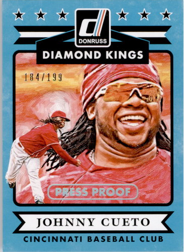 Photo of 2015 Donruss Press Proofs Silver #7 Johnny Cueto DK