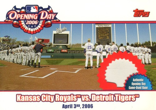 Photo of 2006 Topps Opening Day Team vs. Team Relics #RT Kansas City Royals Base B