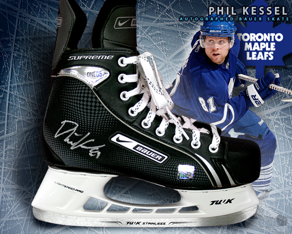 PHIL KESSEL Signed Bauer Skate - Toronto Maple Leafs