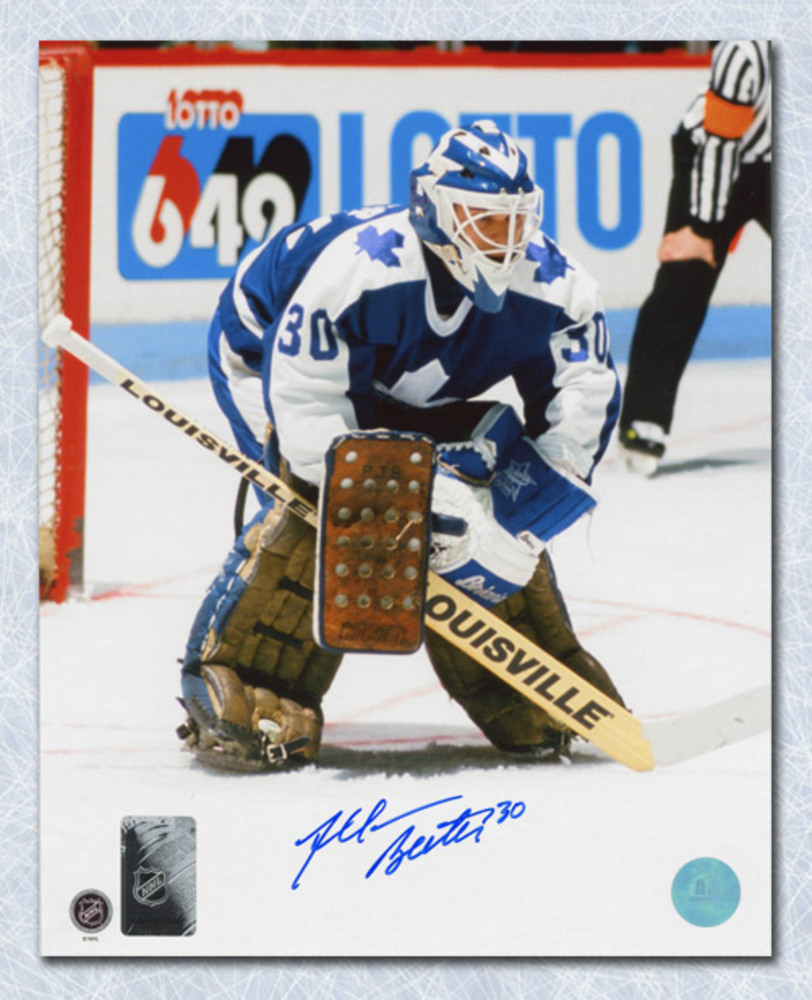 Allan Bester Toronto Maple Leafs Autographed Hockey Goalie 8x10 Photo
