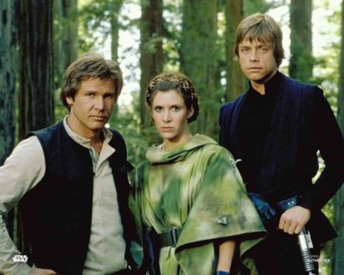 Han Solo, Princess Leia Organa and Luke Skywalker