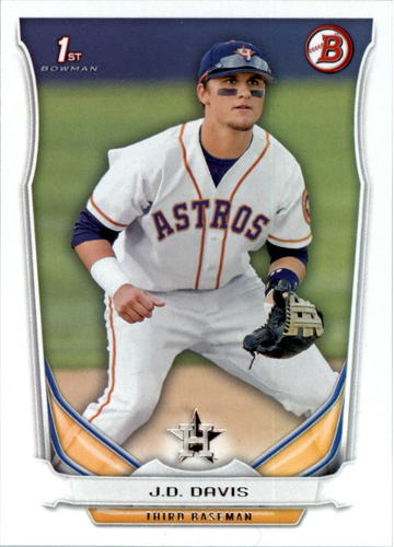 Photo of 2014 Bowman Draft #DP81 J.D. Davis -- Astros post-season
