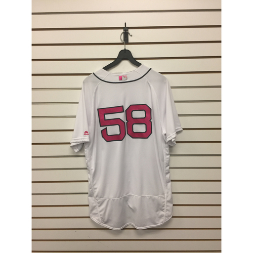 Fernando Abad Game-Used Mother's Day Home Jersey