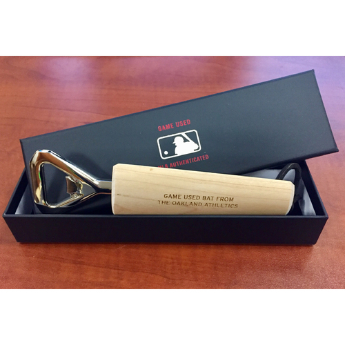 Ryon Healy Game-Used Bat Bottle Opener